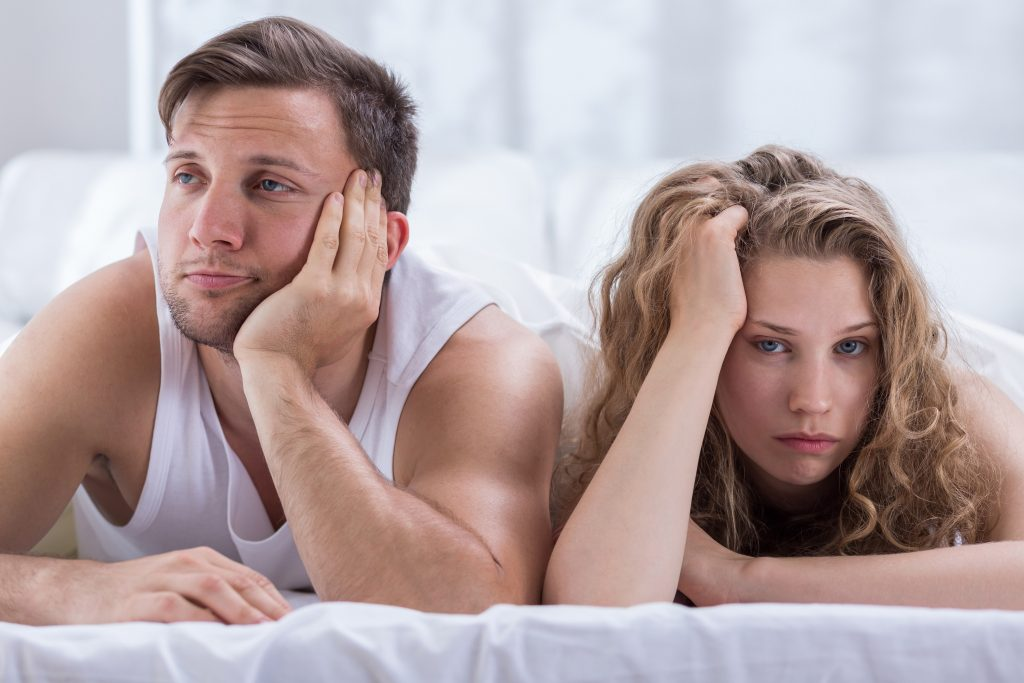 casal decepcionado após sexo
